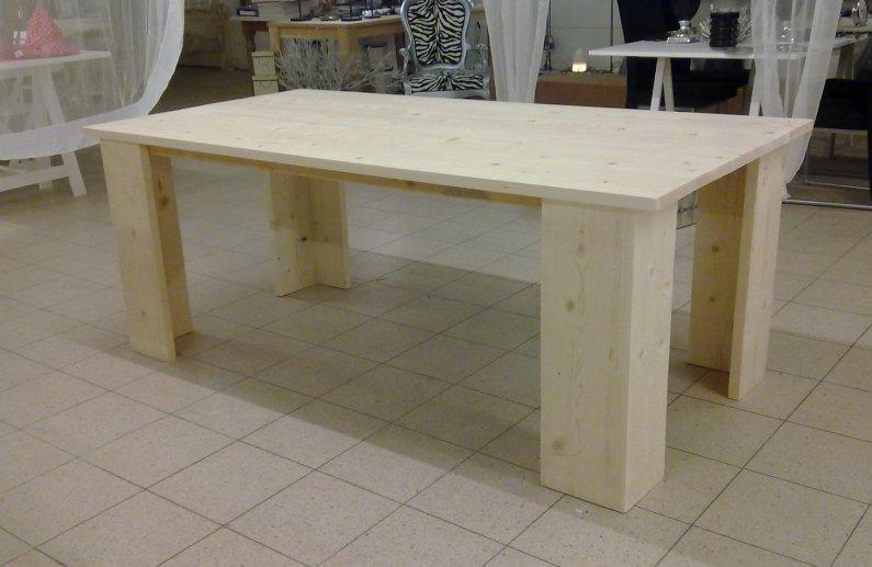 Steigerhouten tafels steigertafels voor binnen en buiten for Tafel van steigerplanken